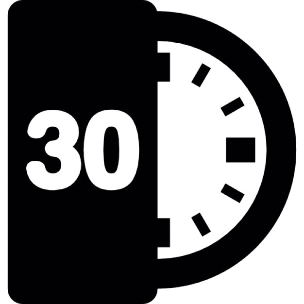 30 minutos media hora descargar iconos gratis for Cocinar en 30 minutos