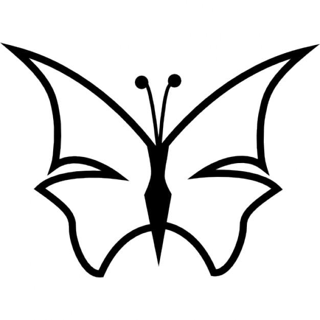 Contour Line Drawing Butterfly : Afilar mariposa forma de contorno descargar iconos gratis
