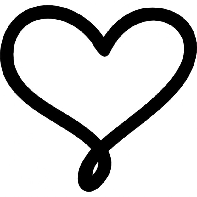 amor corazón símbolo dibujado a mano esbozo | descargar iconos gratis