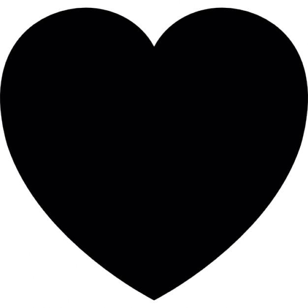amor del corazón forma sólida y símbolo favorito | descargar