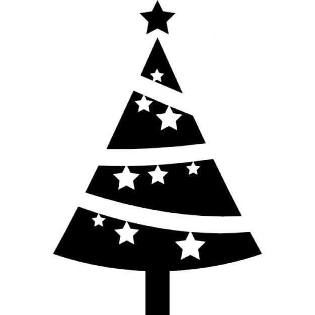rbol de navidad adornado con las estrellas icono gratis
