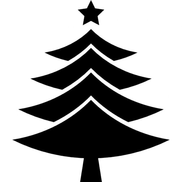 Rbol de navidad forma de tri ngulos con una estrella en - Estrella para arbol de navidad ...