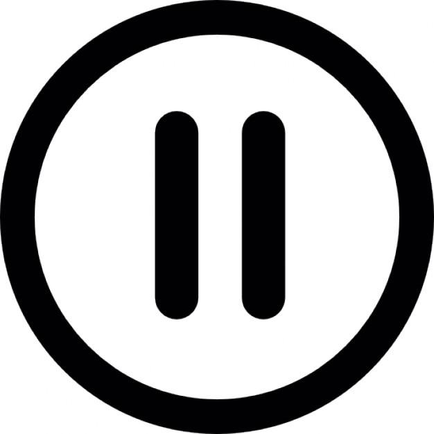 Bot n de pausa de v deo descargar iconos gratis for Icono boton