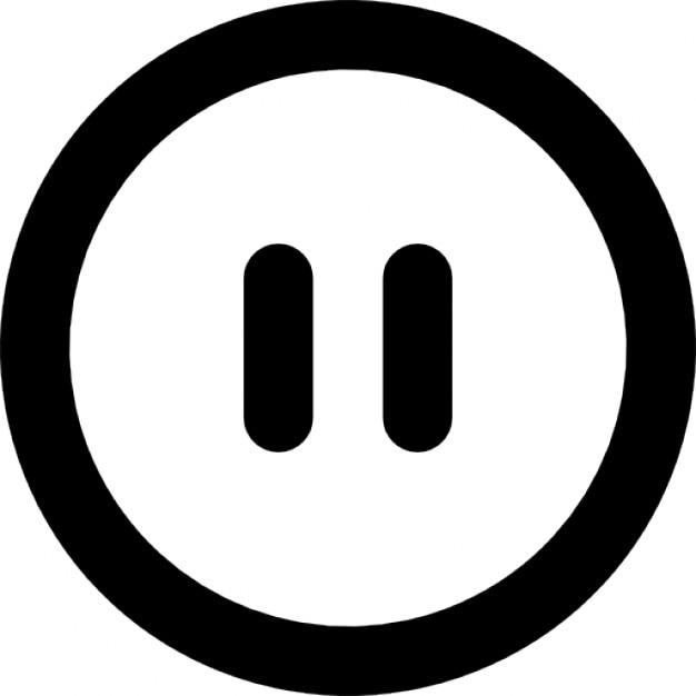 Bot n de pausa descargar iconos gratis for Icono boton