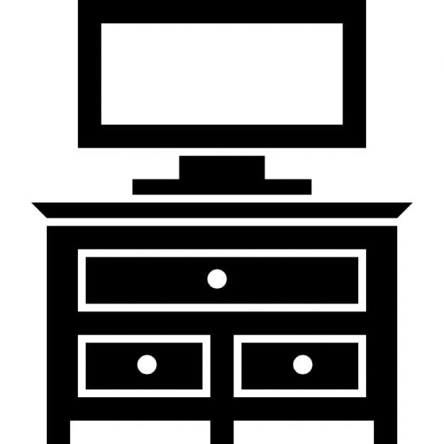 Cajón muebles dormitorio con monitor de tv  Descargar Iconos gratis