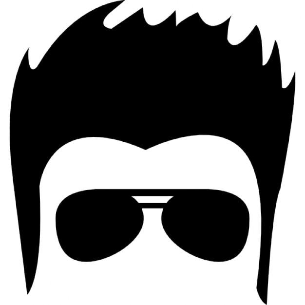 Cara Masculina Del Pelo Con Gafas De Sol Descargar