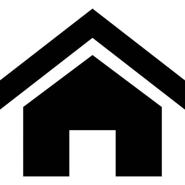 Casa con techo enfatizado descargar iconos gratis for Toit de maison dessin