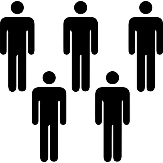 Cinco personas siluetas descargar iconos gratis for Hoteles para 5 personas