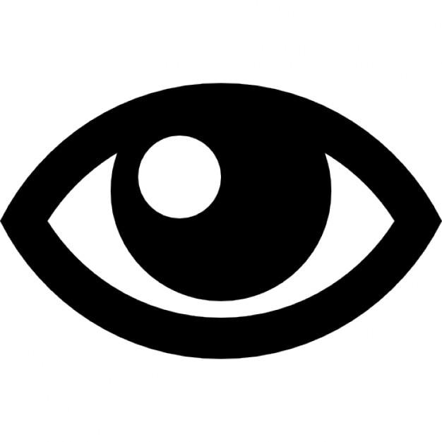 Contorno de ojos Icono Gratis
