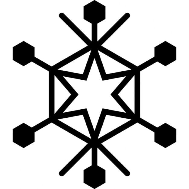 Copo de nieve con la estrella de seis puntas en el centro for Estrella de nieve