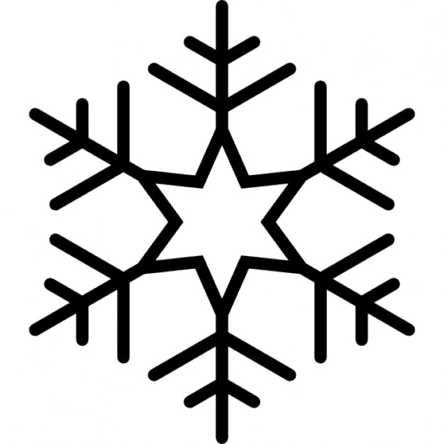 Copo de nieve con seis puntos de la estrella en el centro for Estrella de nieve