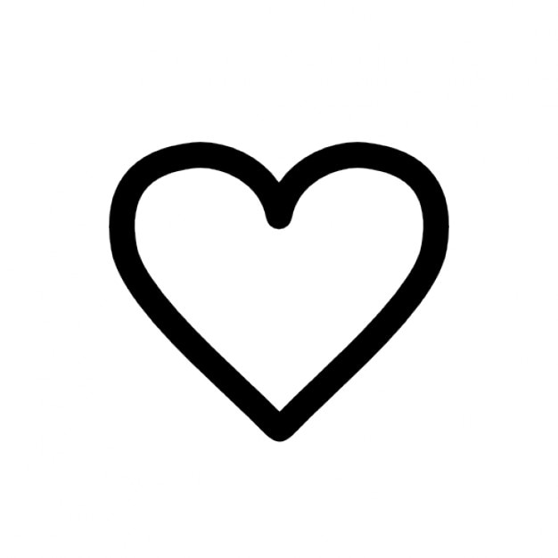 Corazón blanco Icono Gratis