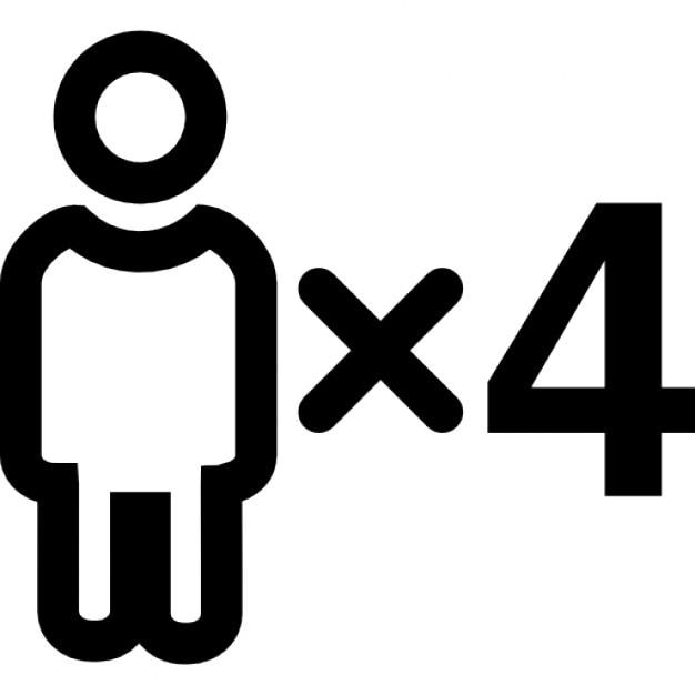 Cuatro personas descargar iconos gratis for Hotel para cuatro personas
