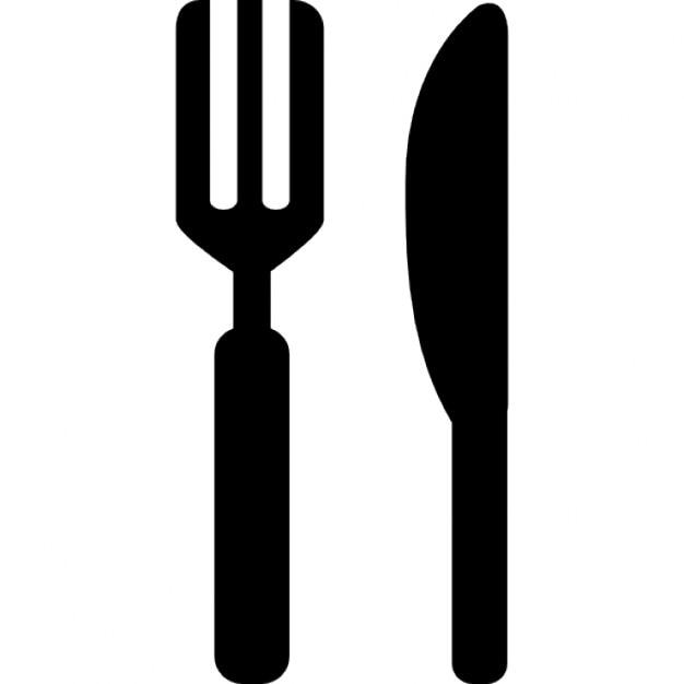 Cuchillo y tenedor variantes silueta descargar iconos gratis for Tenedor y cuchillo en la mesa