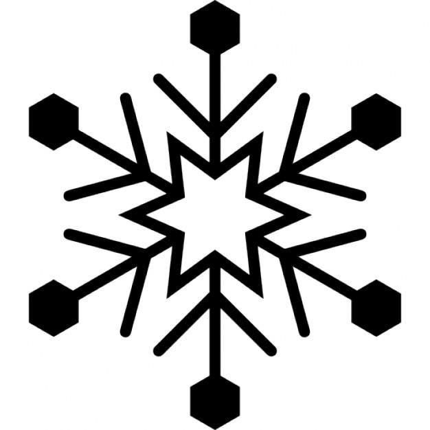 Dise o de copo de nieve con estrella de seis puntas y for Estrella de nieve