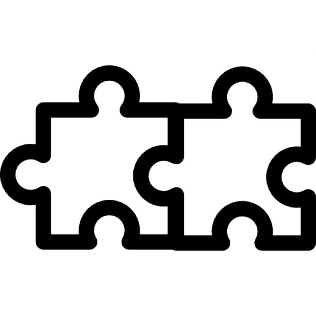 Dos piezas de un rompecabezas   Descargar Iconos gratis