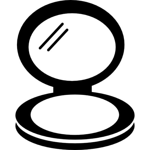 Espejo en caso de circular rubor descargar iconos gratis for Espejo circular