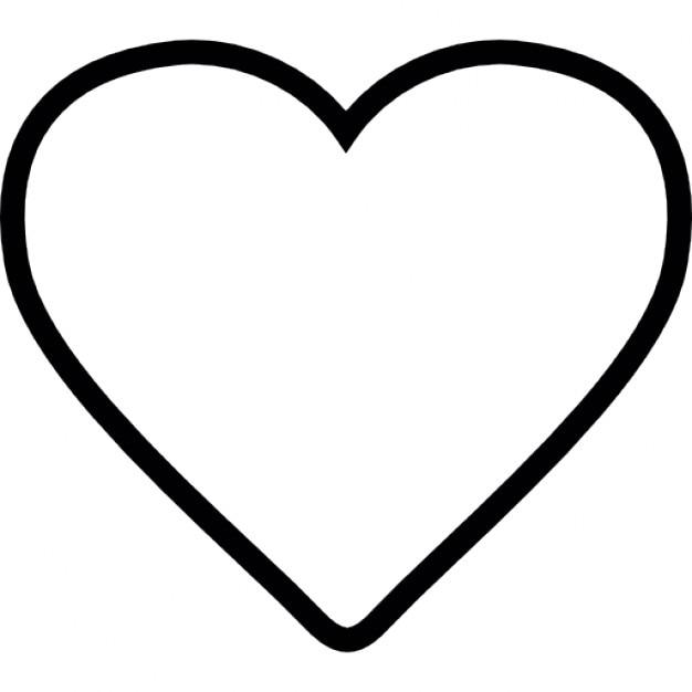 forma de corazón blanco, ios símbolo interfaz 7 | descargar iconos