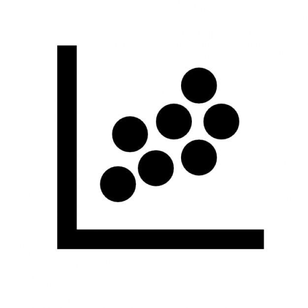 Gráfico de dispersión icono gratuito