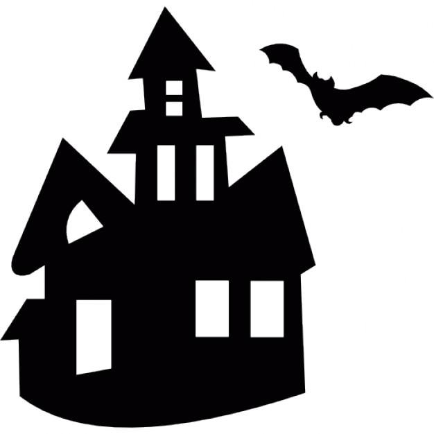 Halloween mansi n embrujada con un murci lago volando sobre descargar iconos gratis - Murcielagos para halloween ...