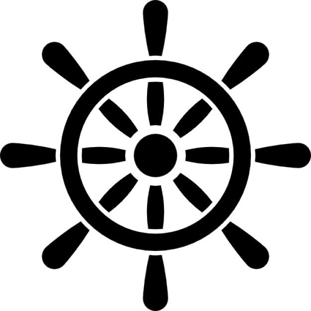 Herramienta de control de la rueda del barco Icono Gratis
