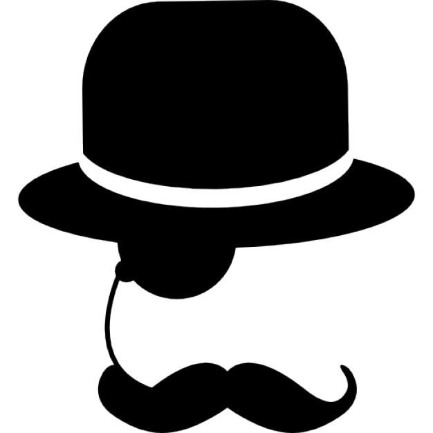 Sombrero de copa plano vintage castro