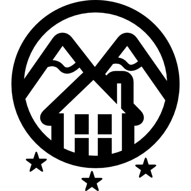 Hotel rural con monta as logo de tres estrellas descargar iconos gratis - Logo casa rural ...