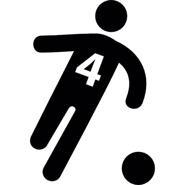 Jugador de f tbol con el n mero 4 corriendo detr s de la for Gimnasio quatro