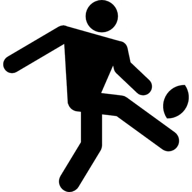 jugador de rugby patear la pelota descargar iconos gratis