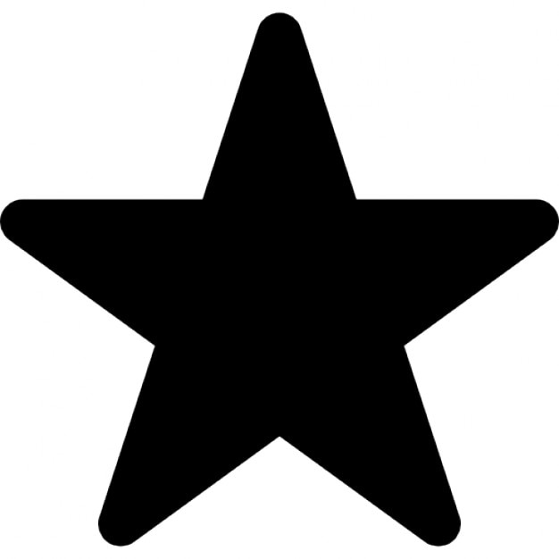 la estrella en negro de cinco puntas forma icono gratis