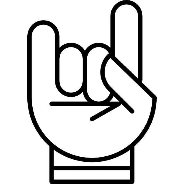 La mano con la formaci n de una roca en el s mbolo de for Formacion de la roca