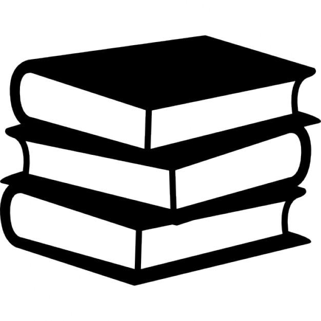 Libros de pila de tres Icono Gratis