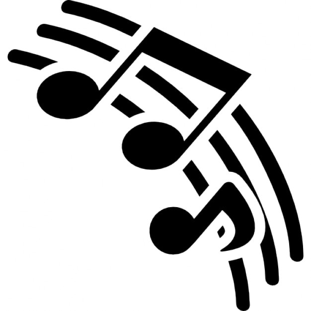 Líneas de pentagrama con notas musicales de la música | Descargar ...