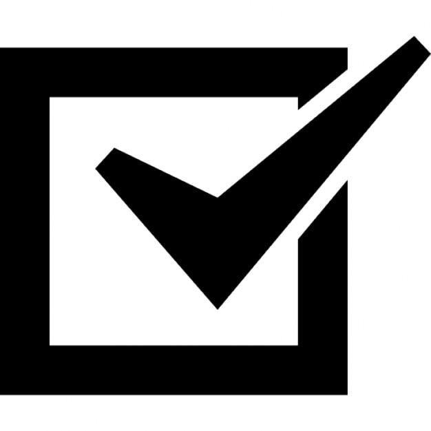 Lista de verificación casilla marcada Icono Gratis