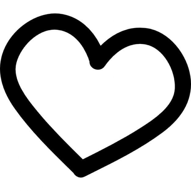 mano del corazón símbolo dibujado esbozo | descargar iconos gratis