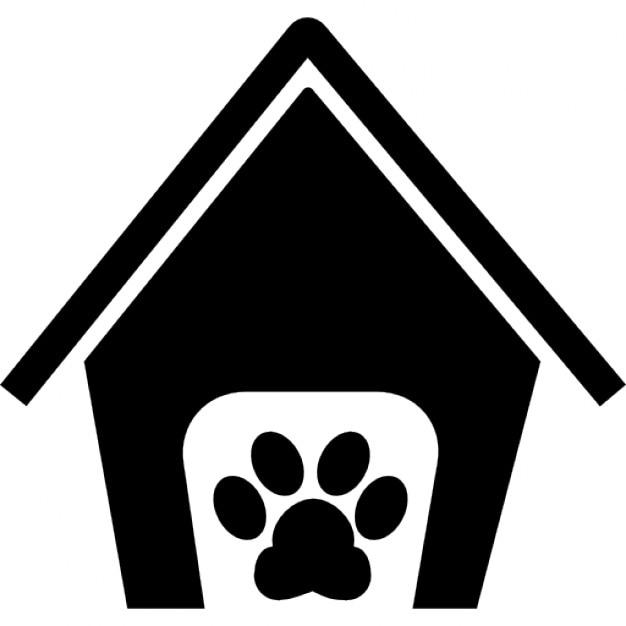 Mascotas muestra de la casa hotel con una pata descargar iconos gratis - La casa de la mascota ...