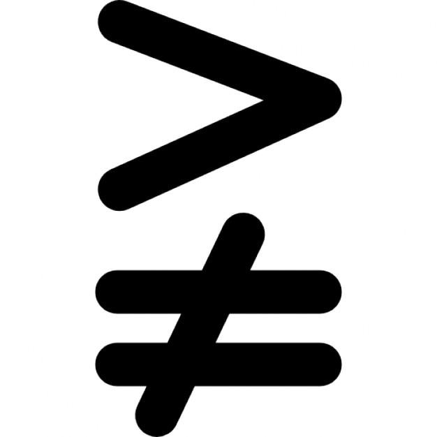 No es igual a símbolo matemático | Descargar Iconos gratis