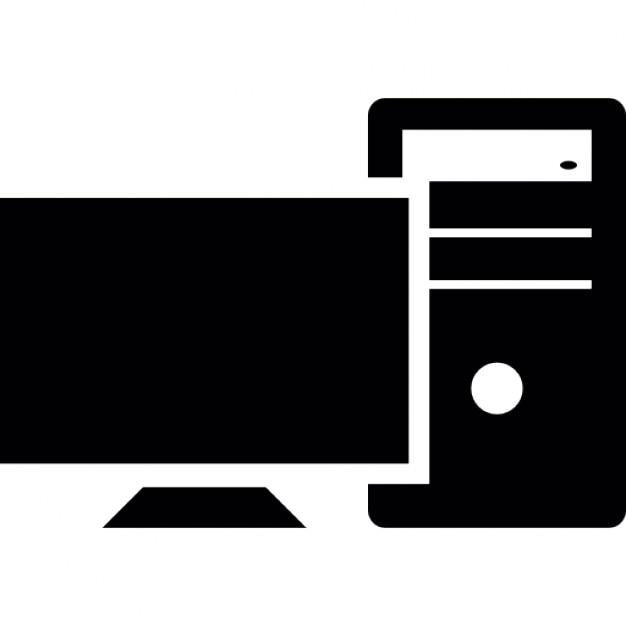 Monitor de la computadora de escritorio y cpu descargar for Imagenes animadas para escritorio de computadora gratis