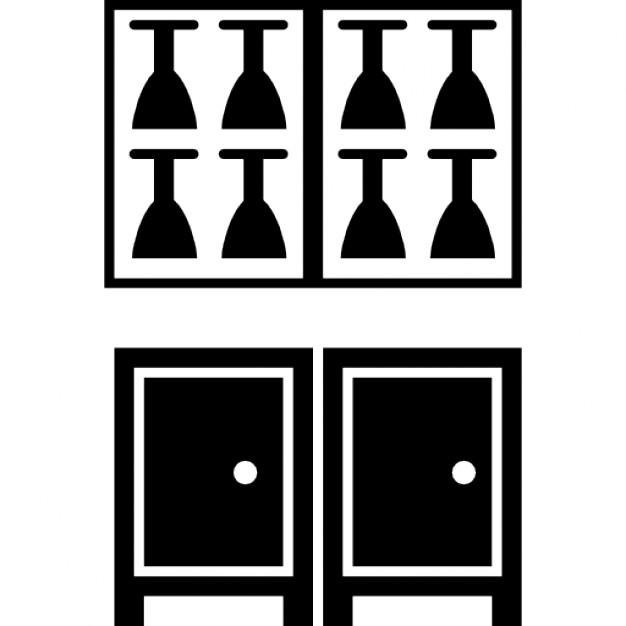 Mueble comedor con gafas descargar iconos gratis for Mueble vector