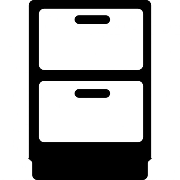 Mueble de dos cajones descargar iconos gratis for Mueble vector