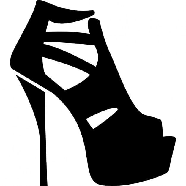 Mujeres zapatos de plataforma con tacones delgados Icono Gratis