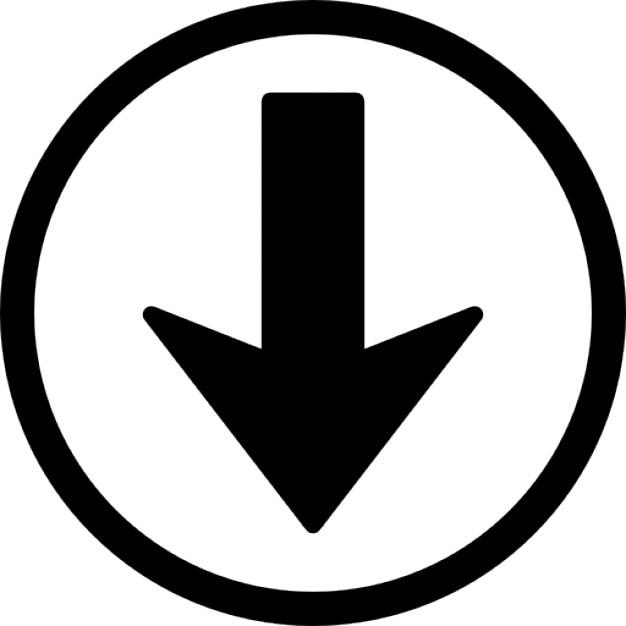 Navegaci n flecha abajo bot n descargar iconos gratis for Icono boton