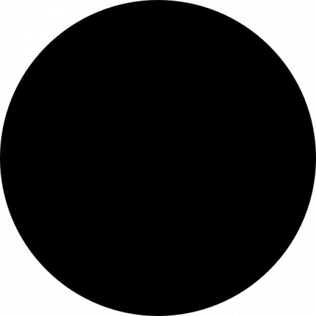 Negro círculo | Icono Gratis
