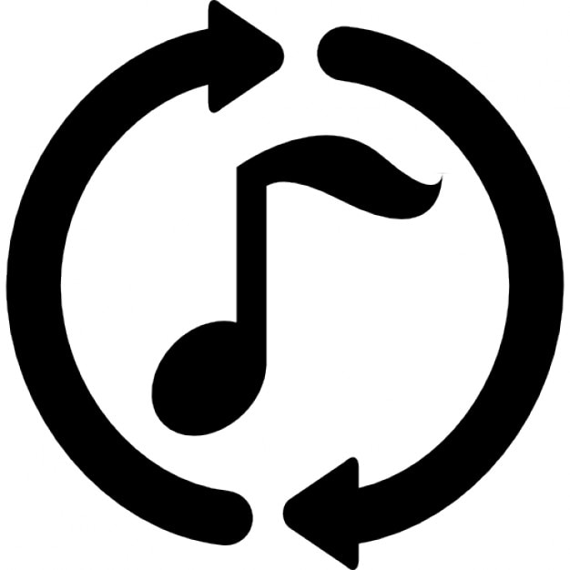 Nota de la música con flechas circulares bucle alrededor | Descargar ...