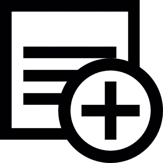 Notas bot n agregar descargar iconos gratis for Icono boton
