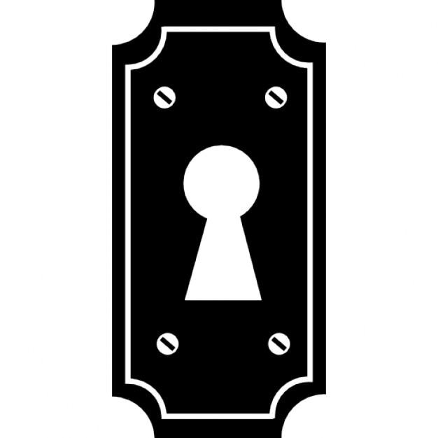 Ojo de la cerradura de una puerta t pica sencilla - Cerrojos con llave ...