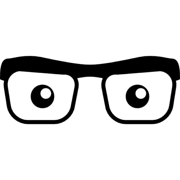 Ojos mirando a través de anteojos | Descargar Iconos gratis