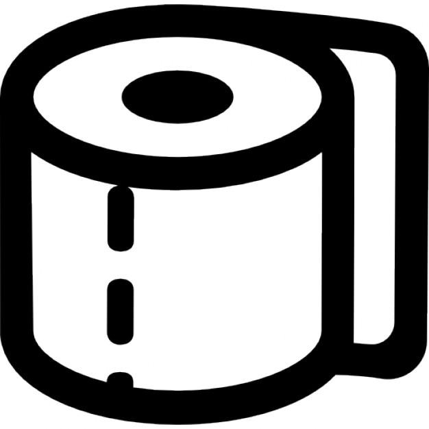 Papel enrollado para baño  Descargar Iconos gratis