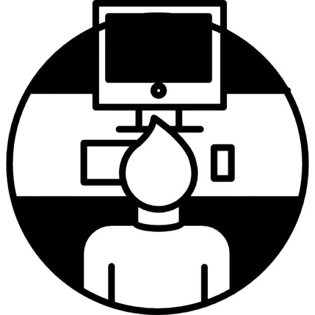 Resultado de imagen de dibujo silla de ruedas y ordenador