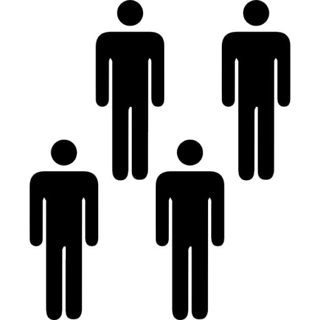 Personas en un grupo de cuatro descargar iconos gratis for Hotel para cuatro personas